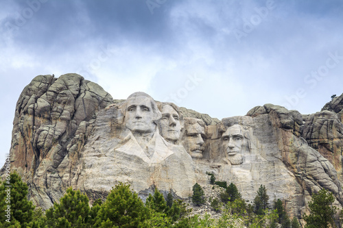 Presidents of Mount Rushmore National Monument. - 69908041