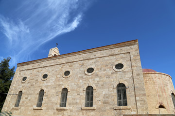 Greek Orthodox Basilica of Saint George in town Madaba, Jordan