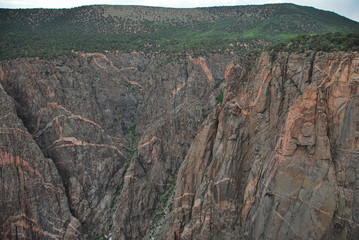 Painted wall view in Black canyon of the Gunnison NP, CO, USA