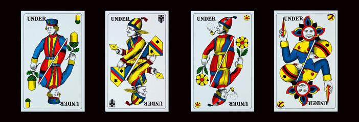 Spielkarten - Jassen - UNTER