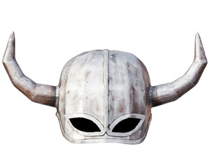 Medieval knight helmet isolated