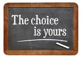 the choice is yours