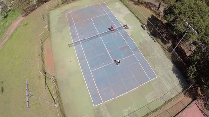 Aerial view from a Tennis Court in Sao Paulo, Brazil