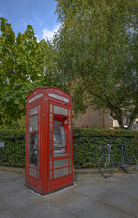 Typical Red Phone booth in London