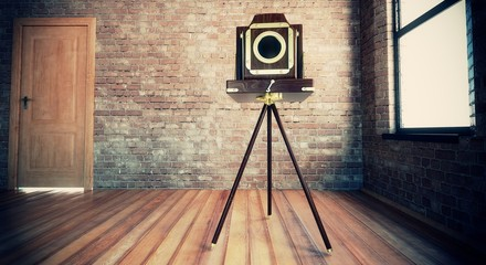 Macchina fotografica lomo in interno vintage
