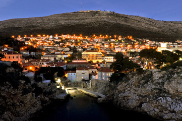 Town Dubrovnik by Evening