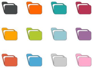 icônes dossiers colorés