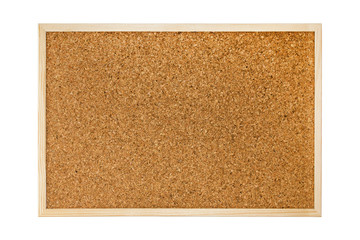 Cork board isolated on white background