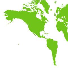 南北アメリカ大陸