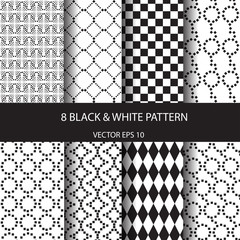 black and white line pattern seamless pattern