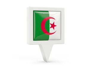 Square flag icon of algeria