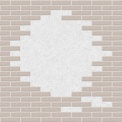 Broken Brick wall background