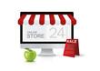 Online store, vector concept