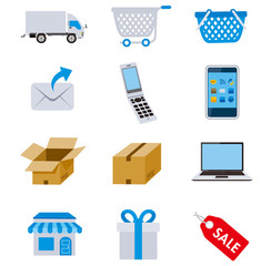 Net shopping icons Vector
