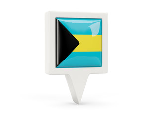 Square flag icon of bahamas