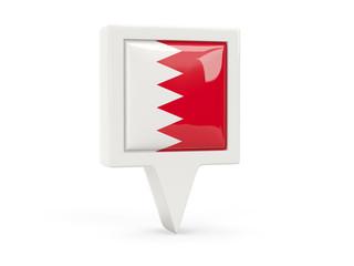 Square flag icon of bahrain