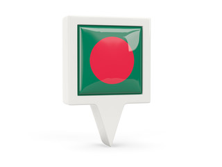 Square flag icon of bangladesh