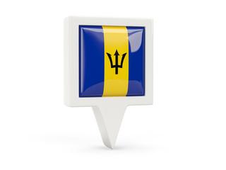Square flag icon of barbados