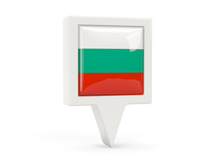 Square flag icon of bulgaria