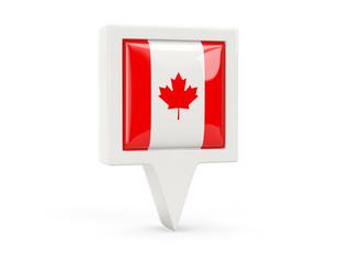 Square flag icon of canada