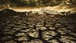 Leinwandbild Motiv natural disaster, abstract environmental backgrounds