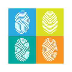 fingerprint icon. Vector Illustration.