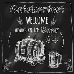 Tap beer design blackboard placard