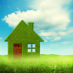 Eco house, abstract environmental backgrounds