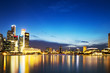 canvas print picture - prosperous modern city at night