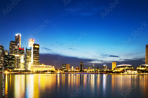 canvas print picture prosperous modern city at night