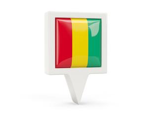 Square flag icon of guinea