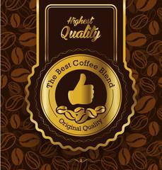 Best brand coffee label design over vintage background