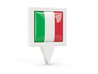 Square flag icon of italy
