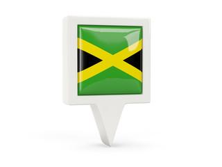 Square flag icon of jamaica
