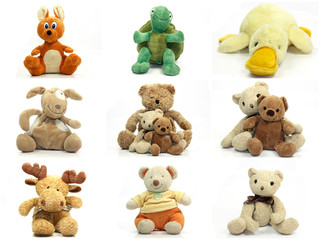 collage peluches