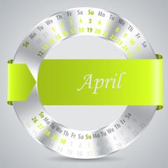 2015 april calendar design