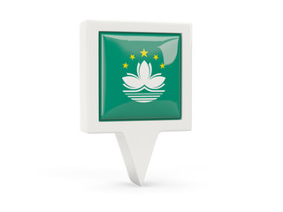 Square flag icon of macao