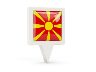 Square flag icon of macedonia