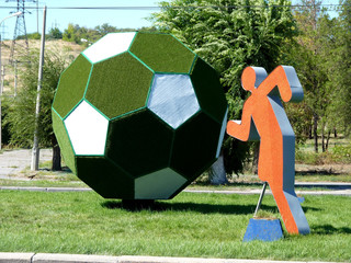 Installation Sport, football player