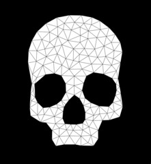 triangle-skull-contour-white