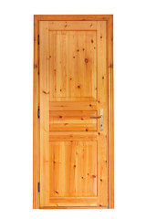 Internal wooden door isolated on white background