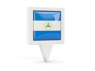 Square flag icon of nicaragua