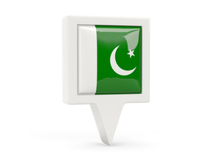 Square flag icon of pakistan