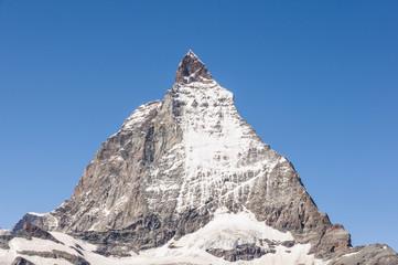 Zermatt, Dorf, Walliser Alpen, Berggipfel, Sommer, Schweiz