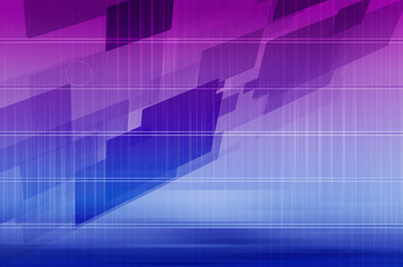 Technology Abstract with Futuristic Lines and Data.