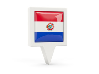 Square flag icon of paraguay