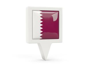 Square flag icon of qatar