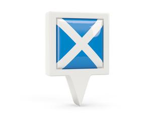Square flag icon of scotland