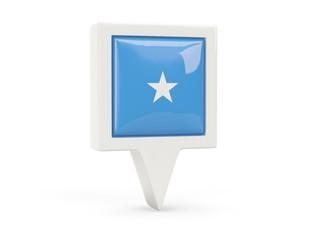 Square flag icon of somalia