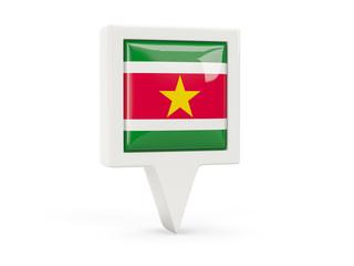 Square flag icon of suriname